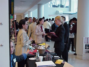 Students Meeting Employers at the Career Fair